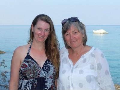 Jana Nienkemper und Dorothee Nuthmann bei der Fortbildung auf Ischia.