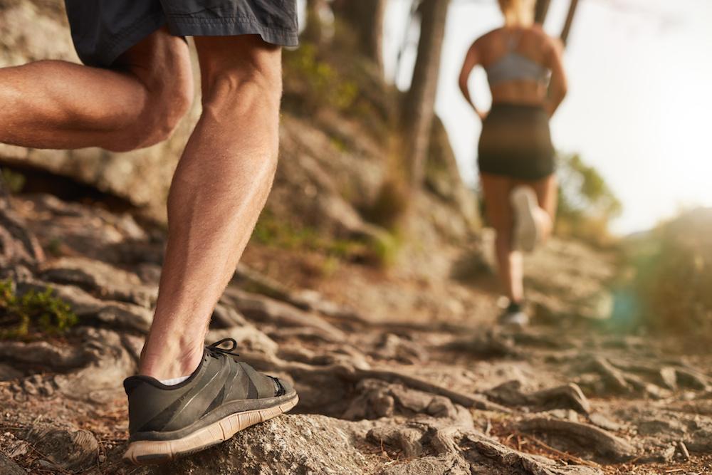 Die Achillessehne wird teilweise übermäßig beansprucht.