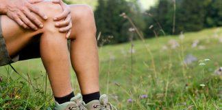 Schmerzende Knie beim Wandern