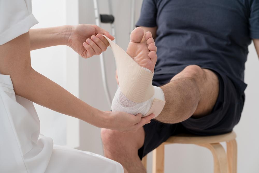 open wound on leg